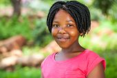 Young African Girl With Braids.