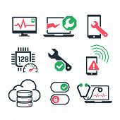 Computer repair icons set 01  // Color