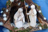 BAD ISCHL, AUSTRIA - DECEMBER 14: Nativity scene, creche, or crib, is a depiction of the birth of Jesus, Bad Ischl, Austria on December 14, 2014.