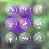 Set of linear style elements or icons , labels and badges for