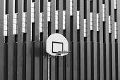Basketball Hoop Shot A Black On White Effect