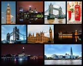 Photo collage of London