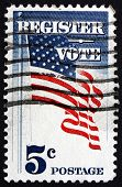 Postage Stamp Usa 1964 Us Flag