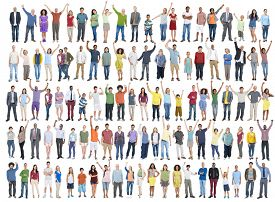 picture of gathering  - People Diversity Success Celebration Happiness Community Crowd Concept - JPG
