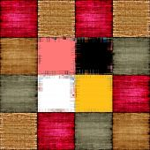 stock photo of chessboard  - Color patch texture collage in a chessboard order as abstract background - JPG