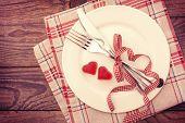 stock photo of dinner invitation  - Valentine day love beautiful - JPG