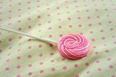 image of valentine candy  - Candy valentines on a background of fabric - JPG