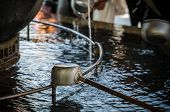 image of ladle  - A water ladle at the purification pavilion  - JPG