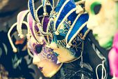 pic of venetian carnival  - amazing carnival masks for traditional Venetian carnival fest - JPG