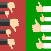 stock photo of positive negative  - Positive and negative feedback concept - JPG