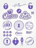pic of keyholes  - Set of icons keyholes  - JPG