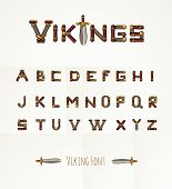 image of medieval  - Font in Viking style - JPG