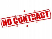 stock photo of deed  - Rubber stamp with text no contract inside vector illustration - JPG