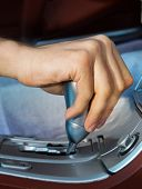 stock photo of gear-shifter  - Driver - JPG