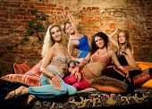 stock photo of harem  - Group of beautiful women in harem - JPG