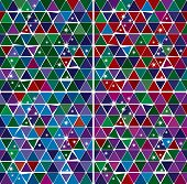 Bright Gem triangle pattern set