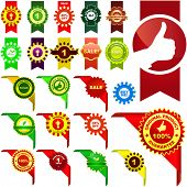 Set of vector corner ribbons for sale