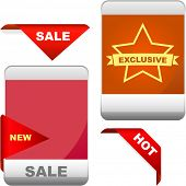 Set of design elements for sale.