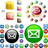 E-mail button set. Vector great collection.