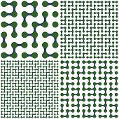 Maze set. Vector illustration.
