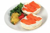 Bagel & Lox Isolated