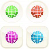 World button set. Vector collection.