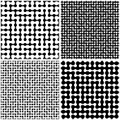 Maze. Seamless pattern. Vector set.