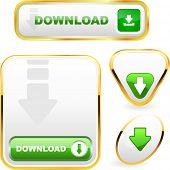 Download button set. Vector set.