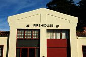 foto of firehouse  - an old firehouse still used to fight fires today - JPG