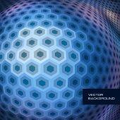 Mosaico de hexágono. Ilustração abstrata.