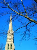 New England Stone Church Spire