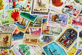 Random Collection Of Postal Stamps
