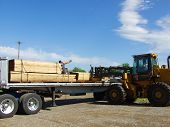Loading The Flat Bed Trailer