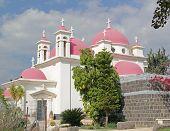 Church of the Twelve Apostles in Capernaum. Israel