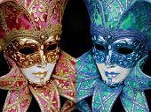 Mardigras mask mirror colors