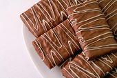 Chocolate Cookies In A Dish Closeup (2)