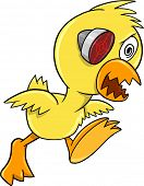 Cyborg Duck Chicken Crazy Insane Vector Illustration Art