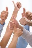picture of thumbs-up  - Conceptual image of success - JPG