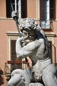 Statue Of Neptune Fountain, Rome, Italy poster