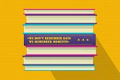 Member Moments Philosophical Quote Motivation Phrase. Motivator Wish Template. Book Stack Cover Desi poster