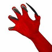 Satan's red hand.