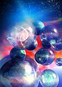 foto of dimentional  - Conceptual image on the topic of multiverses - JPG