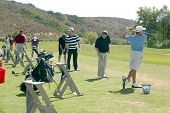 MOORPARK, CA - AUG. 29: Jeremy Sumpter (striped shirt) practices at the 4th annual Scott Medlock-Rob