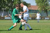 KAPOSVAR, HUNGARY - SEPTEMBER 5: Attila Kovacs (white 11) in action at the Hungarian National Champi