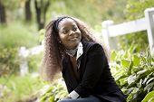 African american woman looking away