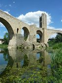 Mediaeval bridge in Besalu, Catalonia
