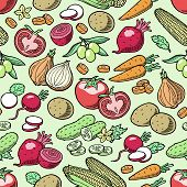 Vegetables Vector Healthy Nutrition Of Vegetably Tomato Pepper And Carrot For Vegetarians Eating Org poster