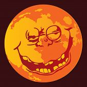 Vector de cara de Luna