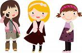 three girls,kids