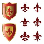 Fleur de lis collection vector